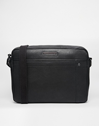 Tommy Hilfiger Rueben Leather Messenger Bag Black
