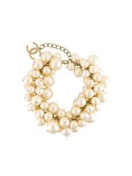 Chanel Vintage Pearl Embellished Necklace White