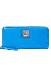 Marc By Marc Jacobs Neon Perforated Leather Wallet Blue