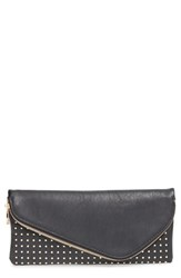 Sole Society Faux Leather Studded Foldover Clutch