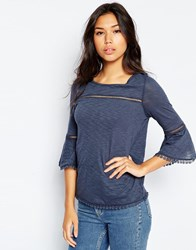 Vero Moda 3 4 Bell Sleeve Top Blue