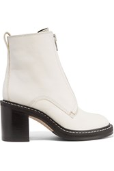 Rag And Bone Shelby Leather Ankle Boots Ivory