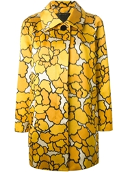 Marc Jacobs 'Petal Chine' Coat Yellow And Orange
