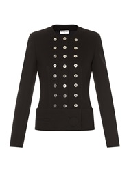 Balenciaga Rivet Detail Collarless Jacket