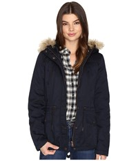 Only Kate Short Canvas Parka Blue Graphite Women's Coat Multi