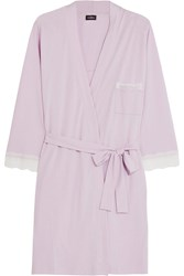 Cosabella Perugia Cotton And Modal Blend Robe Purple