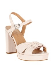 Phase Eight Jennie Leather Platform Sandals Coral