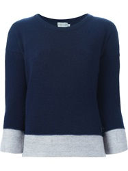 Moncler Contrast Edge Sweater Blue