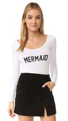 Private Party Mermaid Bodysuit White