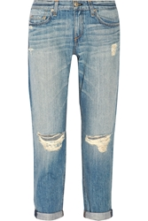 Rag And Bone The Boyfriend Distressed Mid Rise Jeans