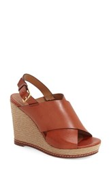 Women's Andre Assous 'Cora' Espadrille Wedge Burnt Sienna