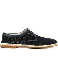 Dolce And Gabbana Lace Up Espadrille Shoes Blue