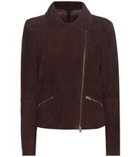 Closed Lomond Suede Biker Jacket Brown