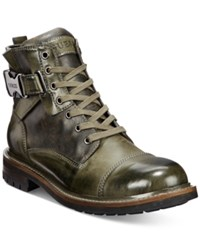 Guess Men's Rand Utility Cap Toe Boot Men's Shoes Olive Green