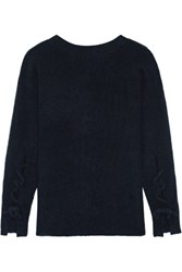 3.1 Phillip Lim Open Back Knitted Sweater Midnight Blue