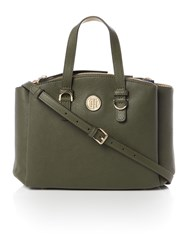 Tommy Hilfiger Core Green Medium Satchel Bag Green