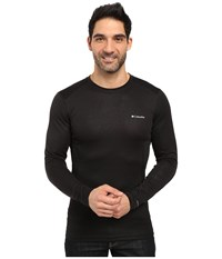 Columbia Midweight Mesh Long Sleeve Top Black Men's Long Sleeve Pullover
