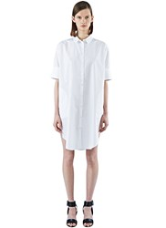 Acne Studios Lash Long Poplin Shirt Dress White