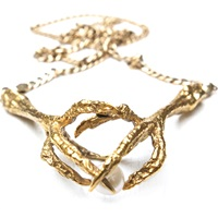 Tessa Metcalfe Double Claw Necklace Gold