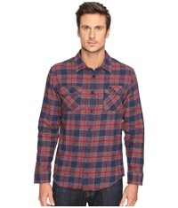 Rvca Lowland Long Sleeve Rosewood Men's Clothing Red