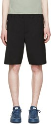 Tim Coppens Black Wool Zipper Shorts