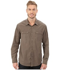 Exofficio Hallstatt Long Sleeve Top Cigar Men's Long Sleeve Button Up Brown