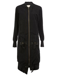 Greg Lauren Long Bomber Jacket Black