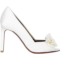 Lanvin Women's Satin Bow Embellished Pumps White
