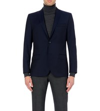 J. Lindeberg Slim Fit Single Breasted Wool Jacket Dk Blue