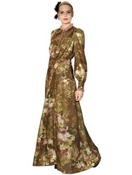 Antonio Marras Floral Silk Georgette And Fil Coupe Dress