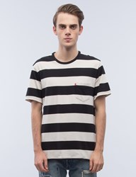 Levi's Stripe Faded Sunset Pocket S S T Shirt