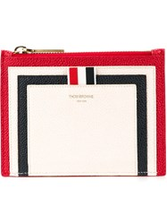 Thom Browne Panelled Coin Purse White