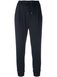 Brunello Cucinelli Stripe Applique Trousers Blue