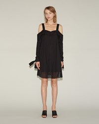 Proenza Schouler Off The Shoulder Dress Black