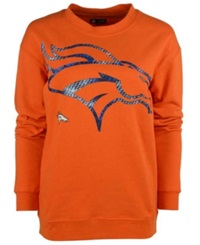 5Th And Ocean Women's Denver Broncos Athletic Sweatshirt Orange Blue