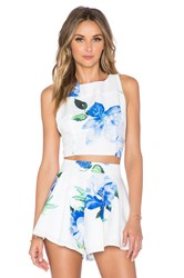 Toby Heart Ginger Enchanted Crop Top White