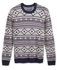 American Rag Men's Chalet Geo Sweater Only At Macy's Basic Navy