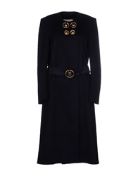 Francesco Scognamiglio Coats And Jackets Coats Women Dark Blue