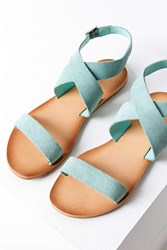 Urban Outfitters Louie Suede Ankle Wrap Sandal Mint
