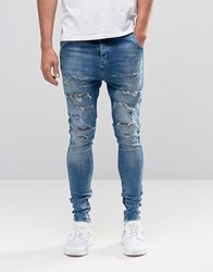 Sik Silk Siksilk Hareem Jeans With Thigh Rips Blue
