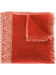 Forte Forte Woven Paisley Scarf Red