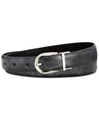 Styleandco. Style Co. Reversible Metallic Belt Only At Macy's Pewter Black