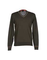 Armani Jeans Knitwear Jumpers Men Military Green