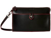 Lodis Audrey Vicky Convertible Crossbody Clutch Black Red Clutch Handbags
