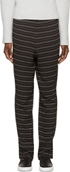 Cnc Costume National Black Printed Trousers