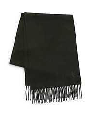 Yves Saint Laurent Wool And Cashmere Scarf Forest