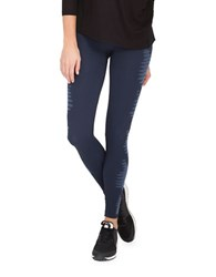 Spanx Striped Seamless Leggings Pure Navy