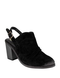 Naughty Monkey Arizona Suede Slingback Mules Black