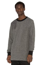 Nlst L S Waffle Sweater Black And White
