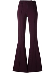 Plein Sud Jeans High Rise Flared Trousers Pink Purple
